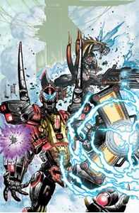 Picture of FALL OF CYBERTRON 03 - COVER ART PRINT