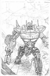 Picture of FALL OF CYBERTRON 02 - B & W COVER ART PRINT