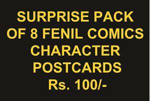 Picture of 8 in 1 Fenil comics postcard set